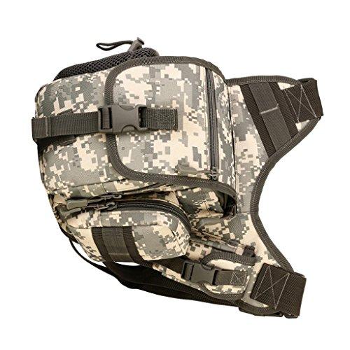 MagiDeal Taktische Militärische Umhängetasche Kamera Tasche Sling Bag Crossbody Bag Herren Schultertaschen ACU Digital
