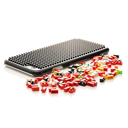 iProtect Apple iPhone 6, 6s DIY Hardcase Schutzhülle mit Bausteinen zum Zusammenstecken - Motiv Pilz Rotes Monster