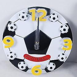 MCC Reloj de Pared Creativo de la Manera Baloncesto 12 inch , football white