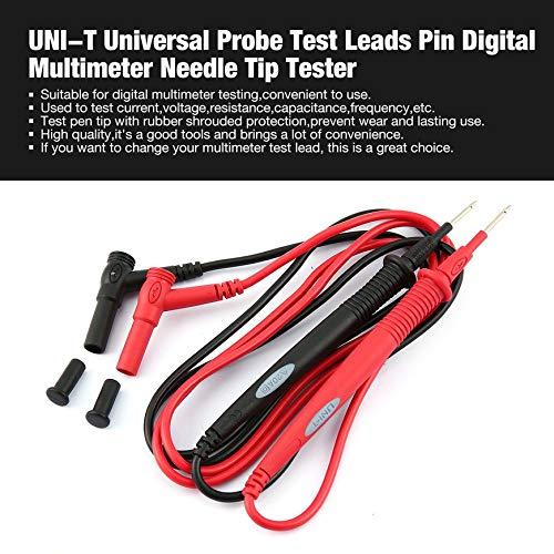 Pudincoco UNI-T Universal-Sonde Messleitungen Pin Digital-Multimeter Nadelspitze Tester Red & Black