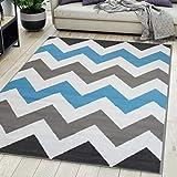 Carpeto Rugs Alfombra De Salón Moderna De Pelo Corto Diseño Gris 1 200x300 cm Grande XL