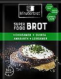 Minutenbrot - Dein frisches Brot in 3 Minuten – Eiweißbrot (18% Protein), LowCarb Brot, vegan, laktosefrei, Superfood Brot – Brotbackmischung - 13er Pack á 80g – Chia | Quinoa | Amaranth | Leinsamen
