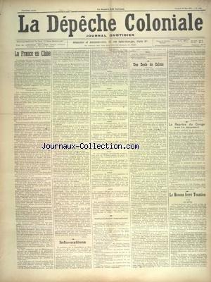 DEPECHE COLONIALE (LA) [No 1441] du 25/05/1901