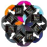 Fit-power Ersatz-Armband für Garmin Vivoactive-Armbanduhr-Band, Soft-Silikon-Ersatz Fitnessarmbänder mit Metallverschlüssen für Garmin Vivoactive/Vivoactive Acetat Sport GPS Smart Watch, 8 Colors-Plain