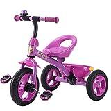 Great St. DGF Enfants Tricycle 3-6 Ans Bébé Poussette Jouet Voiture Vélo Gratuit Gonflable Enfants Vélo ( Color : Pink )