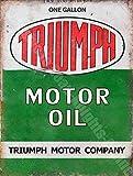 RKO Triumph Huile Moteur Can Vintage Old Garage Métal/Acier Panneau Mural - 15 x 20 cm