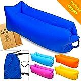 * * * LUXUS & Relax * * Hängematte aufblasbar Tragbarer Sofa aufblasbar Außen Innen Klappsessel Air Sofa Liege Matratze Bett Tasche für Kinder & Erwachsene Camping Pool Strand * * Farbe zufällige