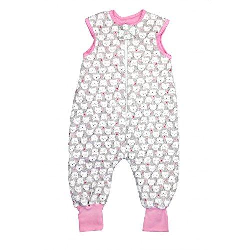 TupTam Baby Unisex Winter Schlafsack mit Beinen, Farbe: Katzen und Herzen, Größe: 92-98