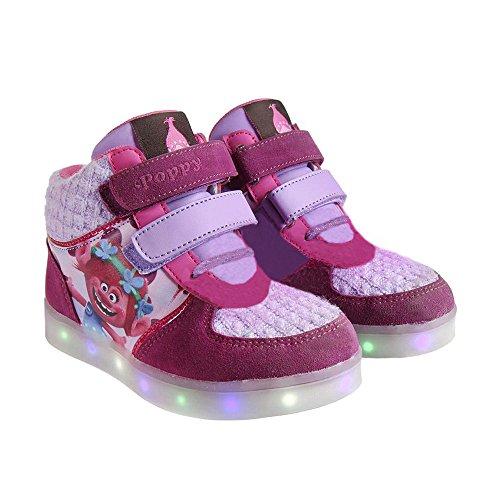 Zapatillas botas deportivas con luz Trolls Poppy-T.31