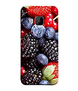 PrintVisa Designer Back Case Cover for HTC One M9 :: HTC One M9S :: HTC M9 (Black Dessert Sweet Diet Food Raspberry Nutrition BlackBerry)