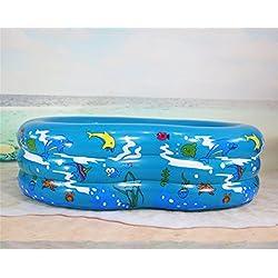 Yeying123 Schwimmzentrum Familie Aufblasbare Pool, 130 * 85 * 50 cm, Für Kind,Blue