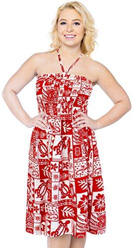 Kleid Halfter verschleiern Badeanzug maxi aloha Frauen sundress Bademoden Rockschlauchoberseiten midi Rot