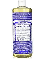 Dr. Bronners Savon de Castille parfumé à la menthe poivrée 946 ml