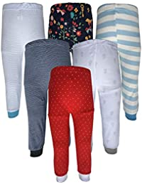Kyda Kids Cotton Baby Pajama Pants Unisex with Rib (Pack of 6)
