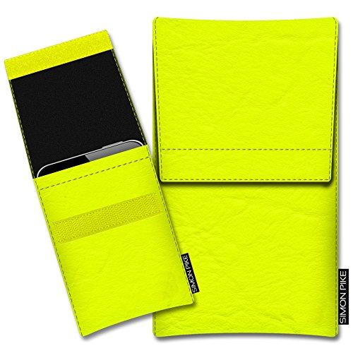 SIMON PIKE Kazam Thunder 340W Kunstleder Tasche Sidney 01 in Neongelb Kunstleder, maßgefertigt