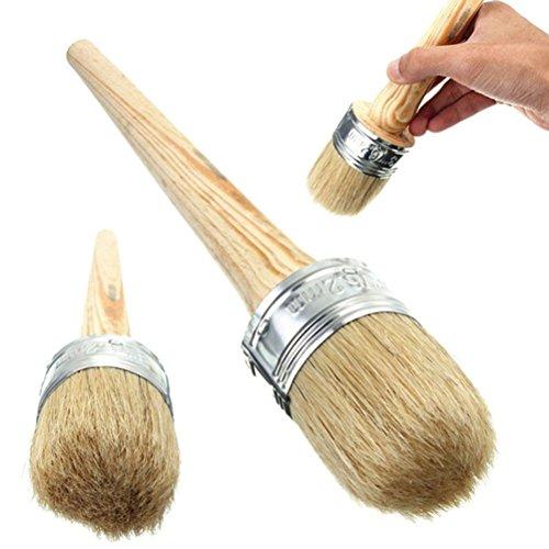 Ultnice Pinsel für Kalkfarbe, Wachs, zum Streichen, Wachsen von Möbeln, Schablonen, Volkskunst, Wohnkultur, 40mm