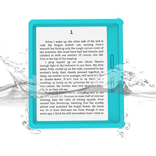 Kindle Oasis Waterproof Case, iThrough® Waterproof Case, Dust Proof, Snow Proof, Shock Proof Full Sealed Protection Case with Touched Transparent Screen Protector for Amazon Kindle Oasis eBook (Blue)