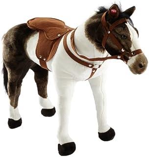 Plüschpferd Reitpferd Plüsch-Pferd Happy People mit Sattel Zaumzeug