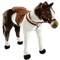 """Happy People 58932 - Cavallo di razza """"Pinto"""", con suoni, portata ca. 100 kg"""