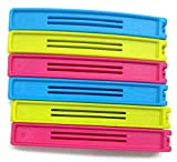 #5: Food Snack Bag Pouch Clip Sealer Set Of 12 pcs for Keeping Food Fresh for Home Kitchen Camping (Multi Color)