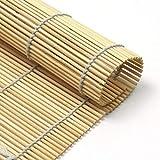 MGE - Tappetino in Bamboo per Sushi - Tovaglietta per Sushi - Set di 6 - Bambù