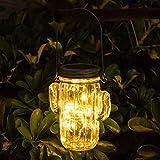 Opard Flaschenlicht Solarglas Mason Jar Licht Solarlampe Led Laterne Solarleuchten, Wasserdichte Glasgläser Garten Hängeleuchten, LED Weihnachtsbeleuchtung für Party,Hochzeitsdekoration (Warm weiß)