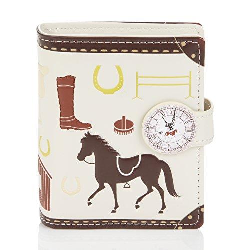 Shagwear Junge-Damen Geldbörse, Small Purse Designs: (Pferde/Unbrideld Horses)