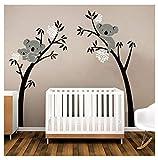 Sayala Koala Arbre Stickers Muraux - Mon-Baby-Dad Koala Branches Stickers/Autocollant Adhésif Mural Pour Chambre Enfants Bébé Nursery Room Decor,2.5 * 2mm (Blanc)