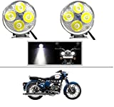 #3: AutoSun 4 Led Small Circle Motorcycle Light Bike Fog Lamp Light - 2 Pc Royal Enfield Classic 350