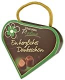 Pralinenschachtel in Herz Form | Pralinen Geschenk originell | Ein herzliches Dankeschön | Kleines Geschenk Herz Geschenkidee Freundin | Schokolade