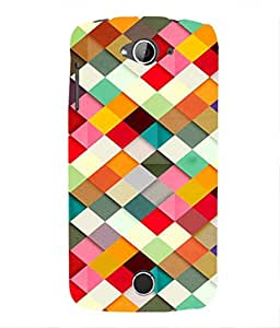 For Acer Liquid Z 530 -Livingfill- Seamless blocks structure background Printed Designer Slim Light Weight Cover Case For Acer Liquid Z 530 (A Beautiful One of the Best Design with a Classic Theme & A Stylish, Trendy and Premium Appeal/Quality) (Red & Green & Black & Yellow & Other)
