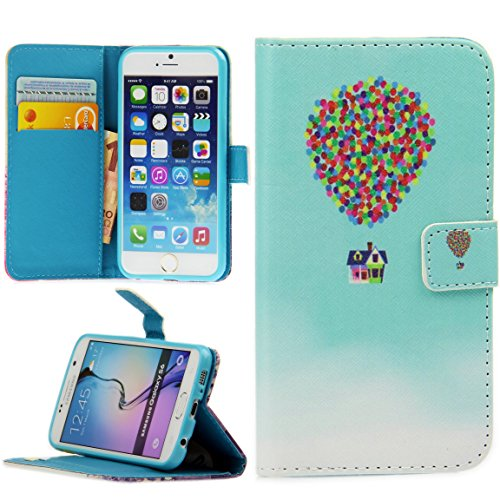 Handy Lux® Schutz Hülle Tasche Kartenfächer Flip Case Etui Cover Involto Motiv Design Hülle BookStyle (Apple iPhone 5 / 5S / SE, Gameboy) Fly House