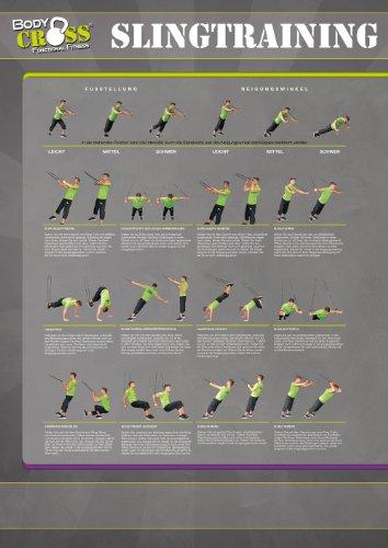 Übungsposter für Schlingentrainer   26 Übungen   2-teiliges DIN A0 Plakat   ausführliche Übungsbeschreibung   Sling-Trainer für Functional Training   Sling Trainer Übungen für Anfänger und Fortgeschrittene   von BodyCROSS