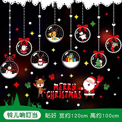 When Christmas Ornaments Malszenen Arrangieren Fensterglasaufkleber Fensterdekoration Aufkleber Türaufkleber, Jingle Bells ()