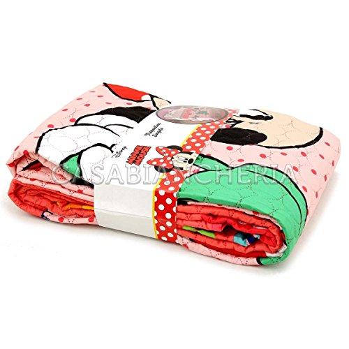 Copriletto trapuntato Disney Minnie Aiuola
