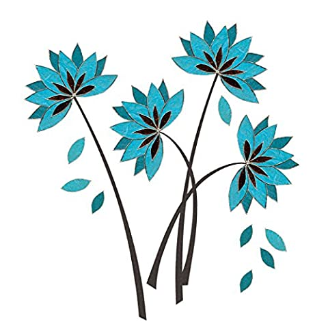 Eurographics DS-ABU1007 Deco Sticker Teal Lotus Flowers, 50 x 70 cm