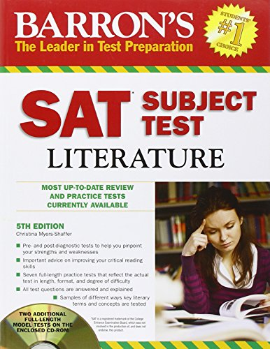 Barron's SAT Subject Test: Literature with CD-ROM, 5th Edition (Barron's SAT Literature (W/CD)) (Barron's SAT Subject Test Literature (W/CD))