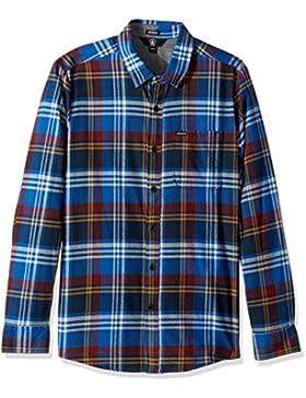 Volcom CADEN Camicia a maniche lunghe, Uomo, Caden Longsleeve, True Blue, XL