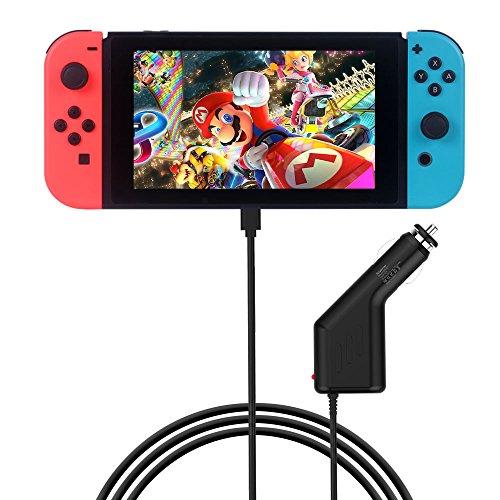 Smatree Cargador de Coche 39W para Nintendo Switch, 15V / 2,6A Jugar e
