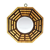 Feng Shui Spiegel Pfirsichholz, Bagua, Pakua, 10,2cm, Convex