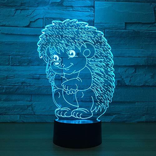 niedliche igel 3d - nachtlicht led lampe led - tier kontakt - usb - licht als kunst dekor
