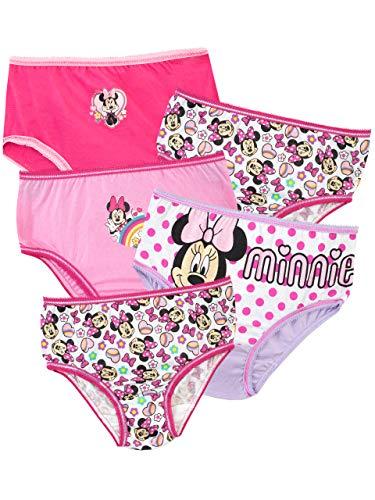 Disney Mädchen Minnie Maus Schlüpfer Packung mit 5 Mehrfarbig 104 cm
