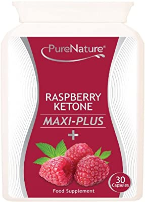 Raspberry Ketone Maxi-Plus 8000mg Daily + 9 Additional Diet & Slimming Ingredients to Boost Weight Loss, Acai Berry, African Mango, Green Tea, L Carnitine, Grapefruit Extract, Resveratrol, Kelp, Apple Cider Vinegar & Caffeine-Anhydrous, Made in the UK for