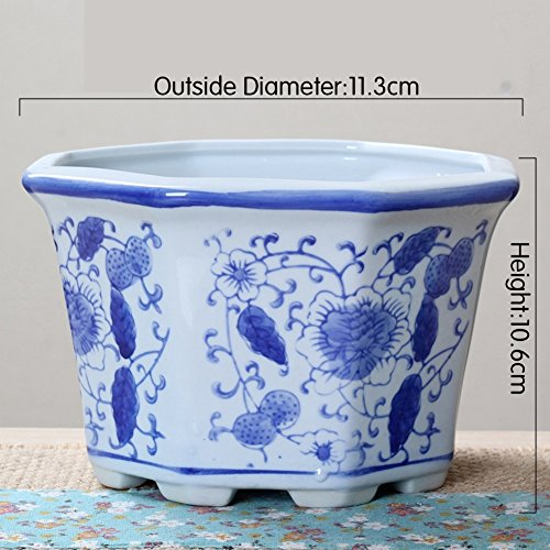 Nclon Keramikplatten Fließenden Glasur Pflanze Pot Blume Pot Pflanze Pflanzer,Ideale Für...