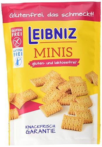 Leibniz Minis Gluten- und Laktosefrei,  8er Pack - Mini-Kekse in der Großpackung - Keks ohne Gluten und Laktose - glutenfreie Minikekse in der Vorrats-Box (8 x 100 g)