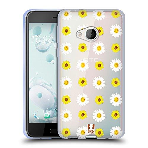 Head Case Designs Gänseblümchen und Sonnenblumen Flower Power Soft Gel Hülle für HTC U Play (Gel Case Power)