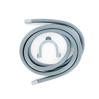 Europart Drain Outlet Hose and Hook, 4 m Length, 19 mm and 22mm Fitting by Maddocks