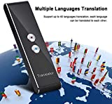 Traduttore elettronico di lingue straniere, 2.4G Smart Voice / Text Bluetooth Translator Supporto di interprete tascabile in tempo reale a due vie 40 lingue Build in Rechargeble Battery per Learning T