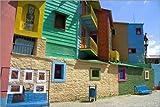 POSTERLOUNGE Póster 60 x 40 cm: Colorful buildings, La Boca, Buenos Aires de David R. Frazier/Danita Delimont - impresión artística de alta calidad, nuevo póster artístico