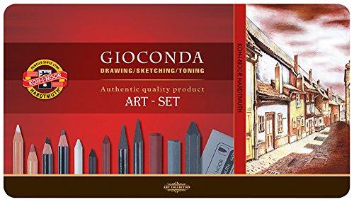 KOH-I-NOOR 8891 GIOCONDA - Künstlerset Zeichenset Art Set 38-teilig in Metallbox Geschenkset